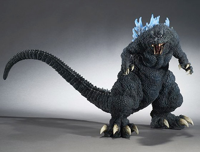 Gigantic Series Godzilla 2001 Reissue with blue fins from X-Plus.