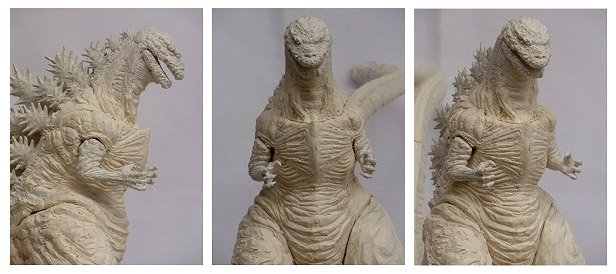 An early look at X-Plus' Large Monster Series Shin Godzilla sculpt.