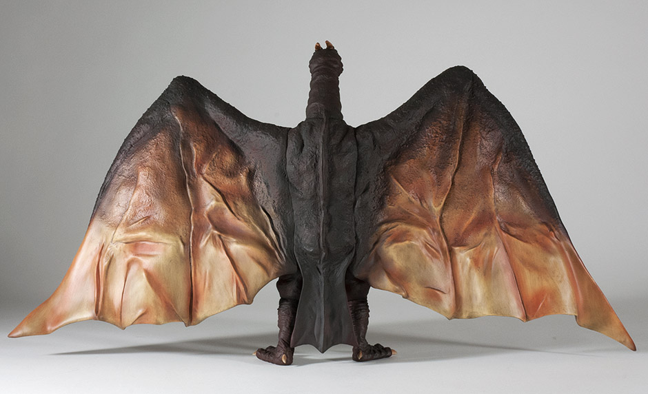 Full back view of the X-Plus Rodan 1964 vinyl figure.