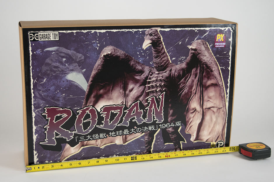 The Box for the 30cm Series Rodan 1964 vinyl by X-Plus.