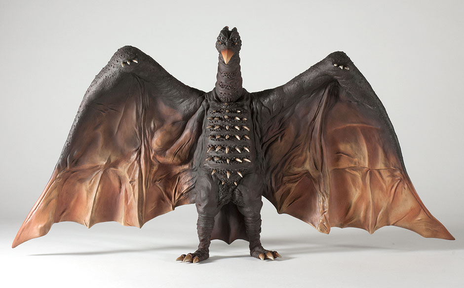 Full front view of the X-Plus Rodan 1964 vinyl figure.
