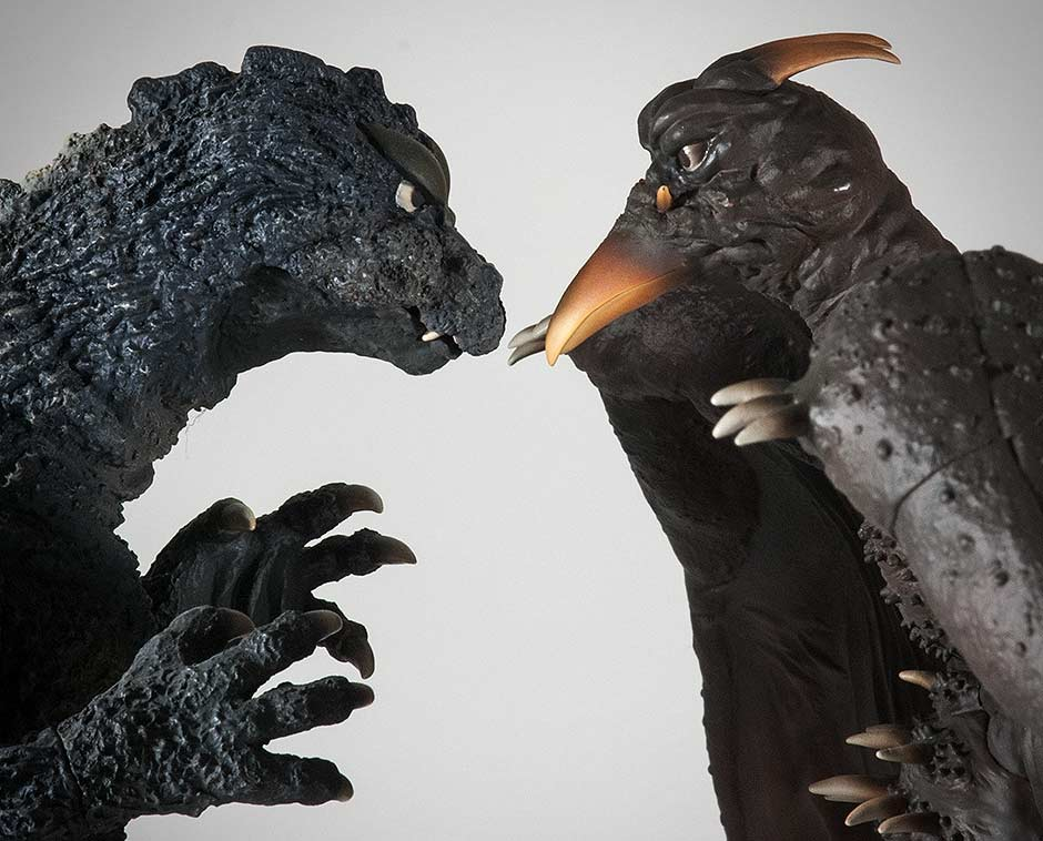 The X-Plus Godzilla 1964 and Rodan 1964 Face off.