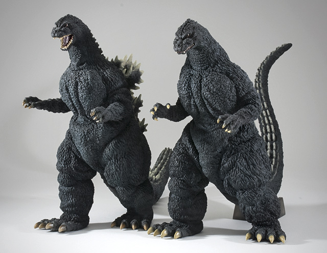 Toho 30cm Series Yuji Sakai Modelling Collection Godzilla 1989 and 1991 vinyl figures.