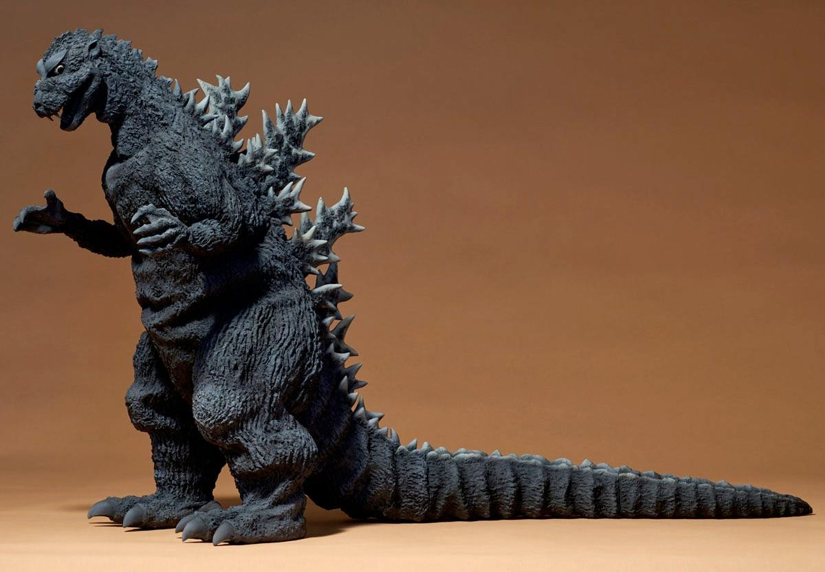 Full view of the Gigantic Series Godzilla 1954 by X-Plus.
