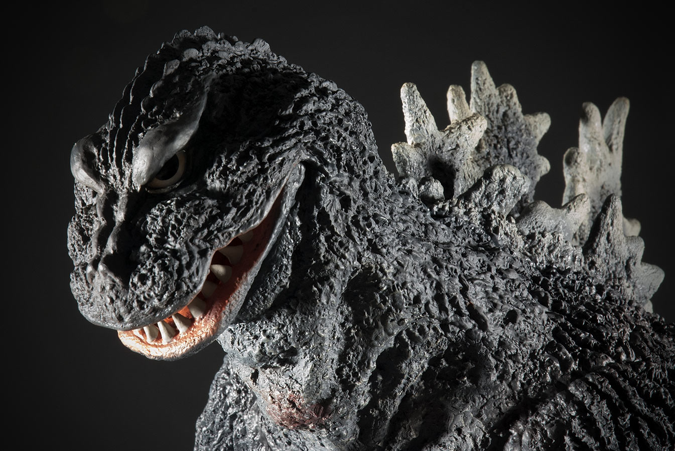 A close-up of the Gigantic Series Godzilla 1962.