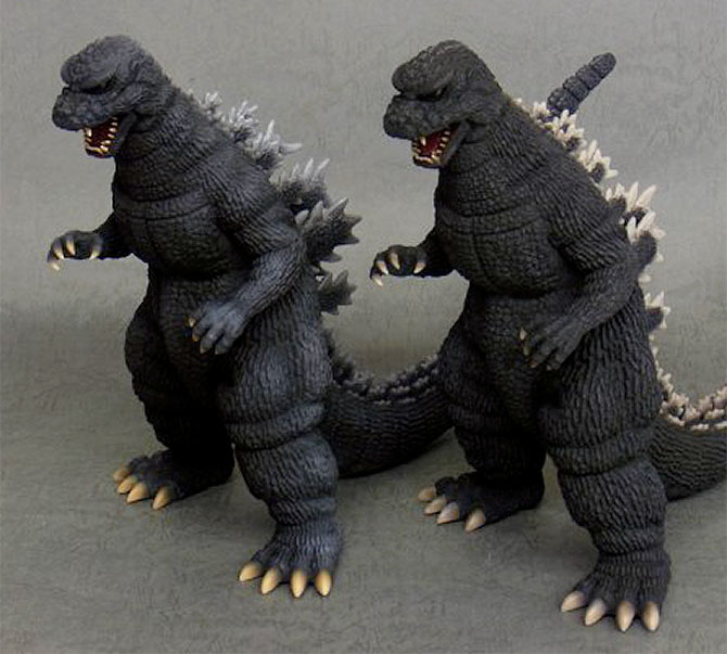 Toho 30cm Series Godzilla 1984 Shinjuku Decisive Battle Version vinyl figure by X-Plus.
