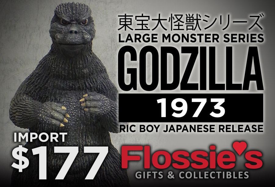 X-Plus Large Monster Series Godzilla 1973 Import now available at Flossie's Gifts & Collectibles.