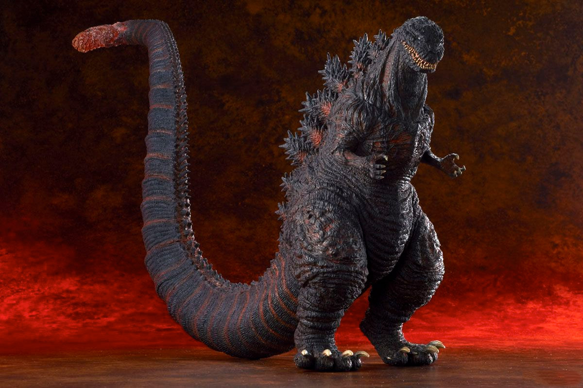 Another view of the Toho Large Monster Series Shin Godzilla vinyl figure by X-Plus.