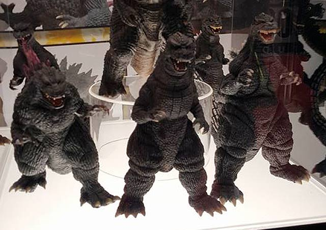 X-Plus Godzilla vinyls on display at Diamond Distributors' booth at NYCC 2016.