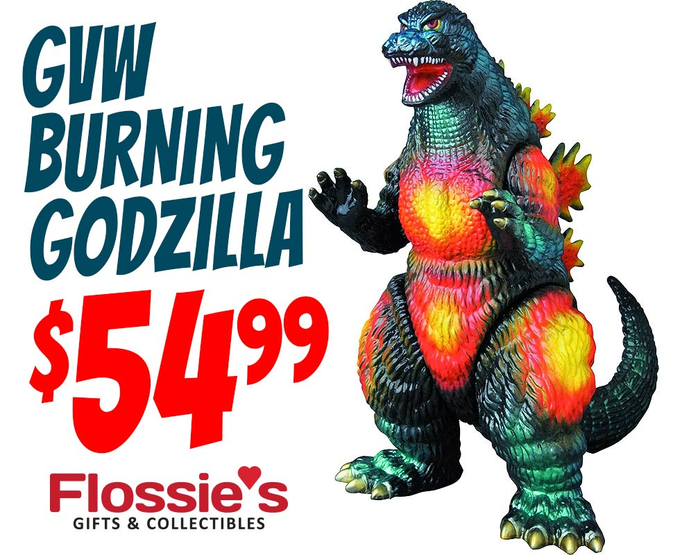 GVW Godzilla 1995 Sofubi available at Flossie's.