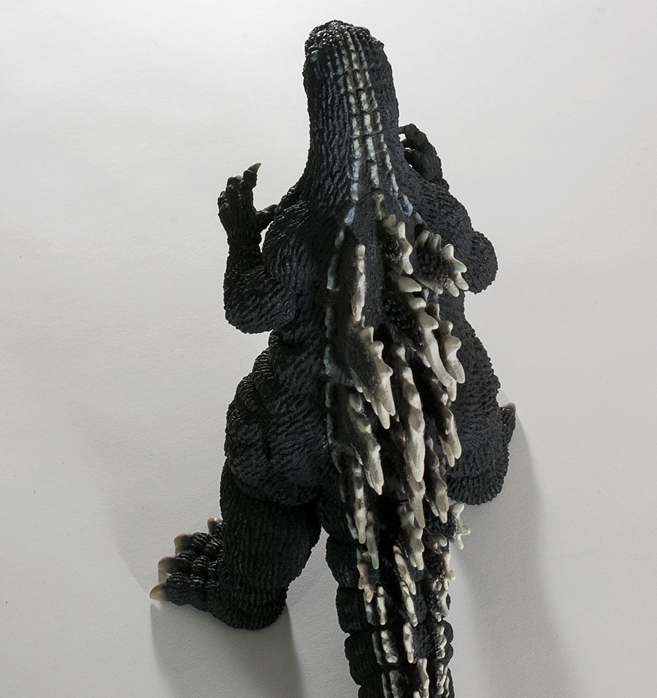High Angle rear view of X-Plus Godzilla 1992.