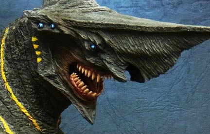 1madzilla Review the X-Plus Large Monster Series Leatherback RIC Pacific Rim vinyl figure.