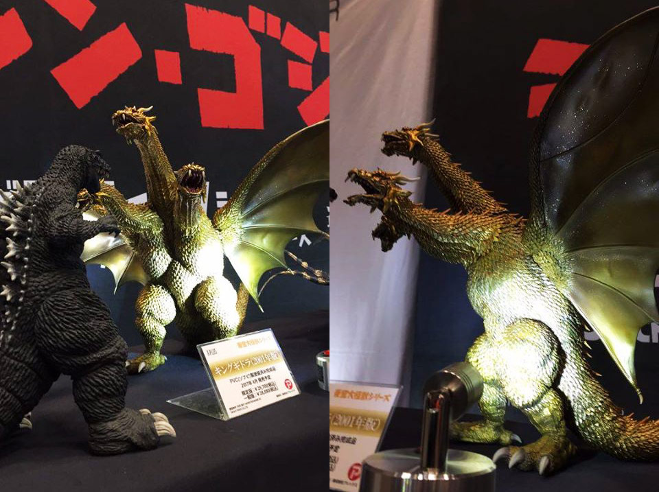 X-Plus GMK King Ghidorah on display at Wonder Festival.
