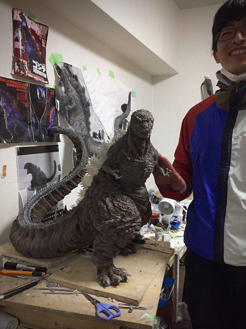 X-Plus Gigantic Series Shin Godzilla in the early stages.