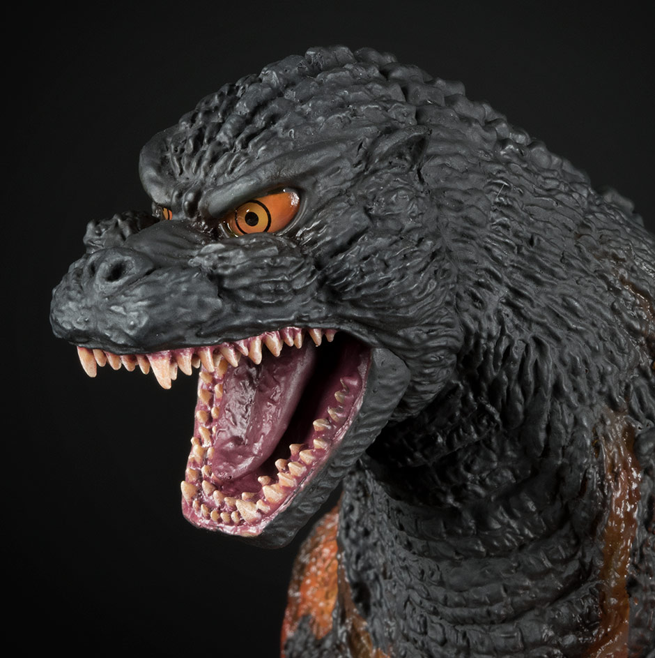 Close-up of the X-Plus 30cm Series Godzilla 1995 head sculpt.