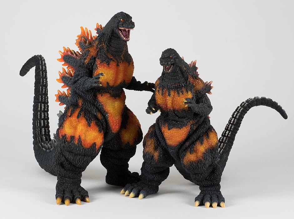 Size comparison with the Large Monster Series version of the Godzilla 1995.