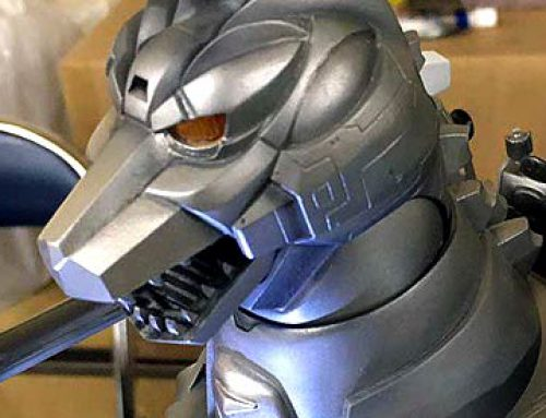 X-Plus Reveals Painted 30cm Series Mechagodzilla II Standard and RIC prototype with Garuda