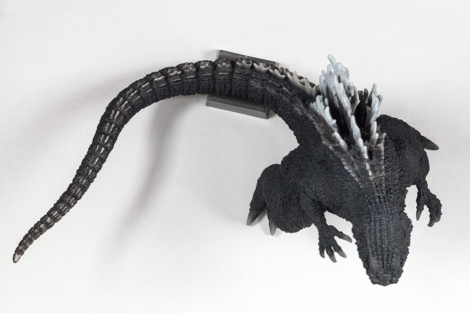 Top view of the 30cm Series Yuji Sakai Godzilla 2001 by X-Plus.
