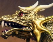Toho Large Monster Series King Ghidorah 2001 vinyl figure by X-Plus.