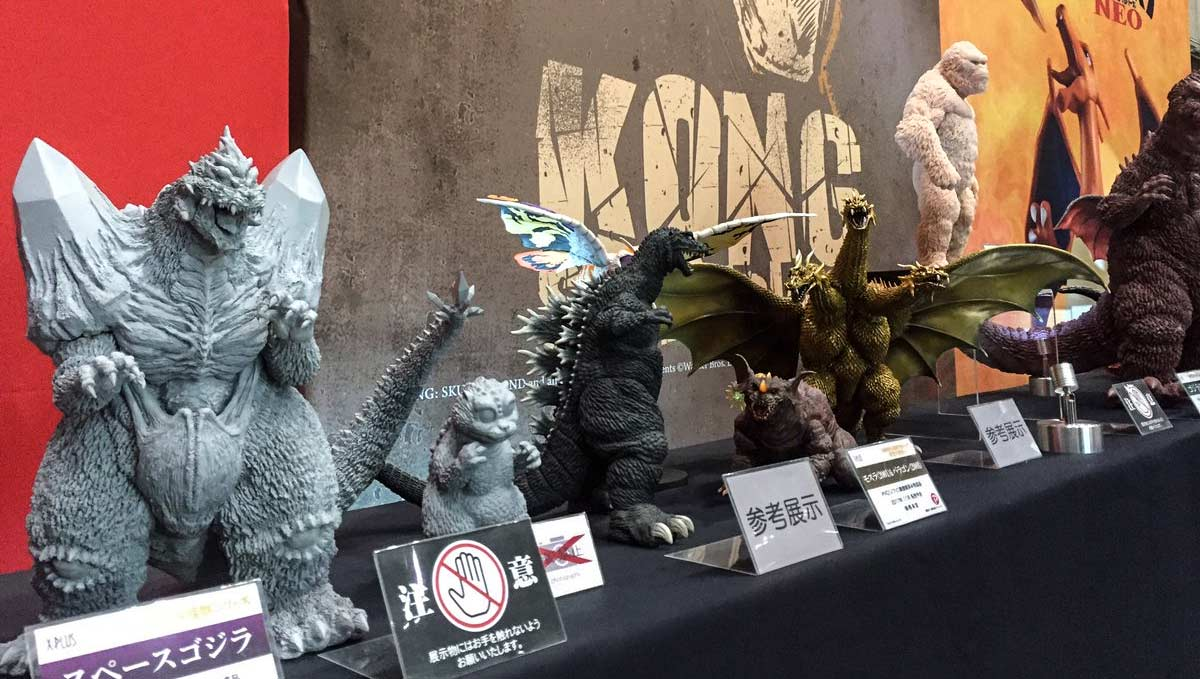 The X-Plus booth at Summer Wonder Festival in Japan last weekend was full of new releases.