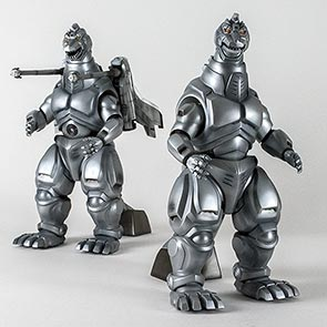 Toho 30cm Series Mechagodzilla 2 and Super Mechagodzilla vinyl figures by X-Plus.