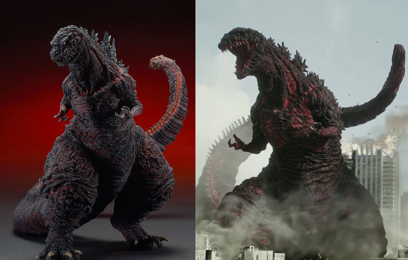 Side by side comparison with X-Plus figure and shot from the movie.