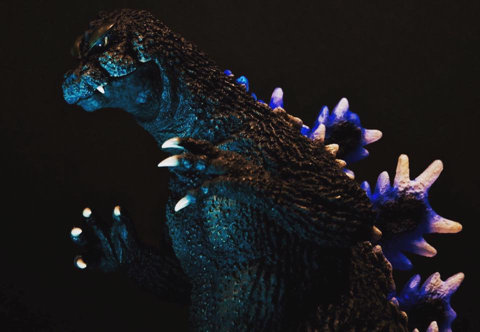 The Toho 30cm Series Godzilla 1964 vinyl figure shot by David Dopko.