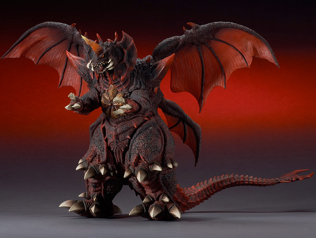 Toho Large Monster Series Destoroyah vinyl figure by X-Plus, main photo.