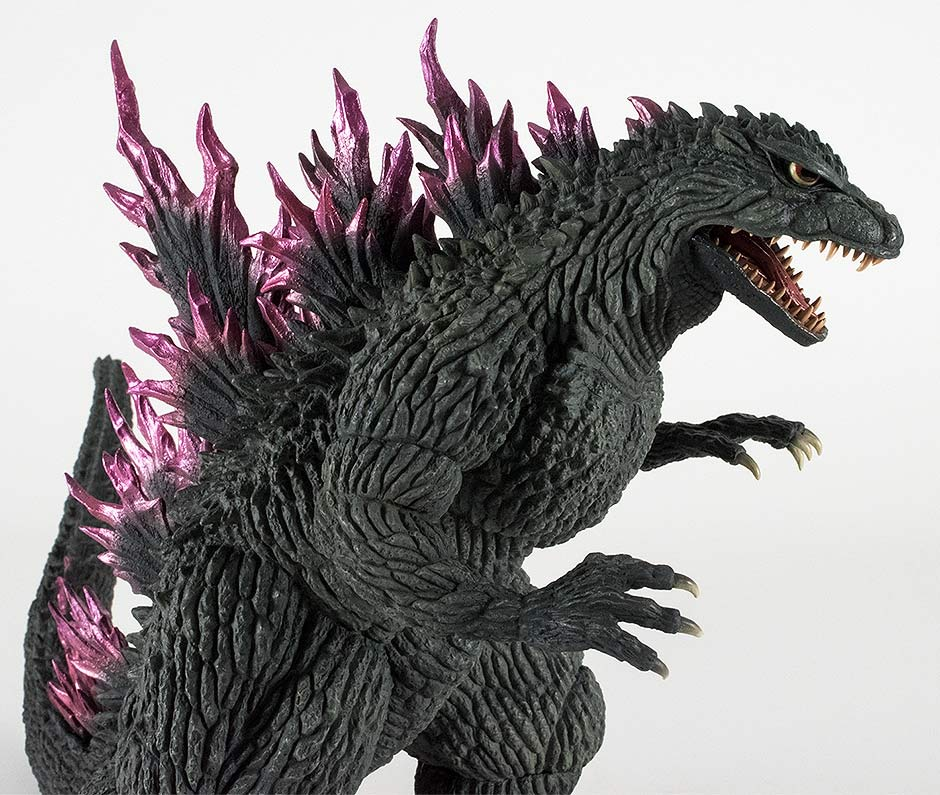 This Godzilla is an off greenish black.