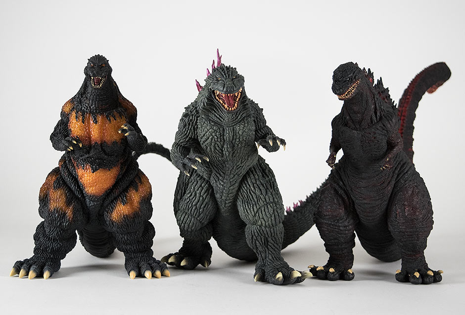 Size comparison with big Large Monster Series figures.