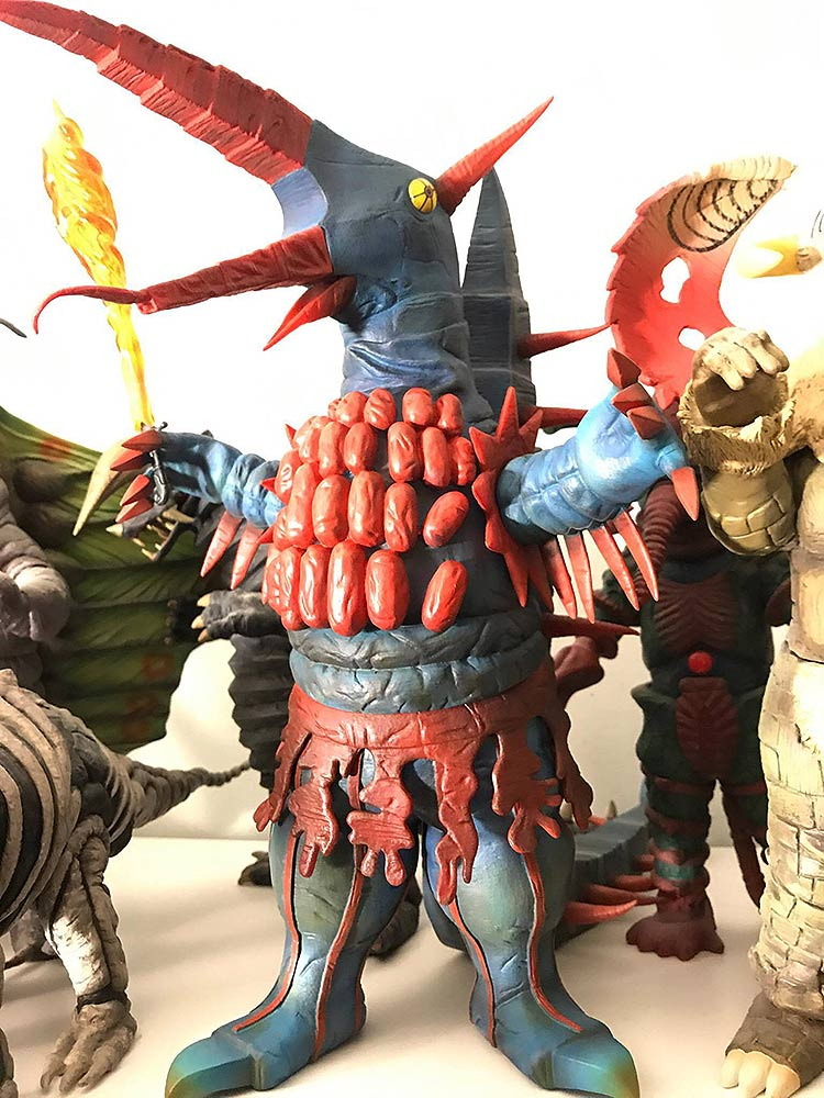 Large Monster Series Firemons vinyl figure by X-Plus. Photo by Vince Elliot.