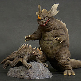 Toho Large Monster Series Baragon and Varan 1968 vinyl figure set.