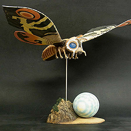 Toho Large Monster Series Mothra Imago 1964 vinyl figure by X-Plus.