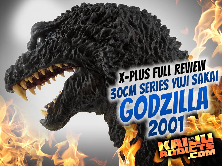 X-Plus Toho 30cm Series Yuji Sakai Modeling Collection Godzilla 2001 Vinyl Figure Review.