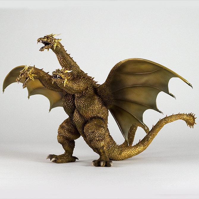 X-Plus King Ghidorah 2001 GMK Vinyl Figure.