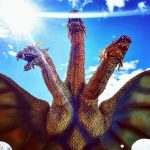 Photo of the X-Plus King Ghidorah vinyl figure by Everett Grondin.