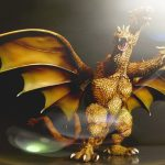Photo of the X-Plus King Ghidorah vinyl figure by Jim Jenkins 1.
