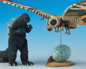 Toho Special Effects Museum: Godzilla 1964 and Mothra 1964 mini vinyl figure set.