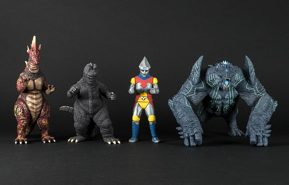 Size comparison with some Large Monster Series figures.