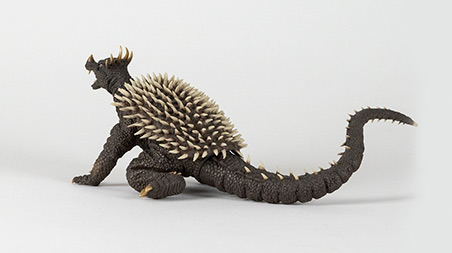Rear Left Angle of X-Plus Large Monster Series Anguirus 1968.