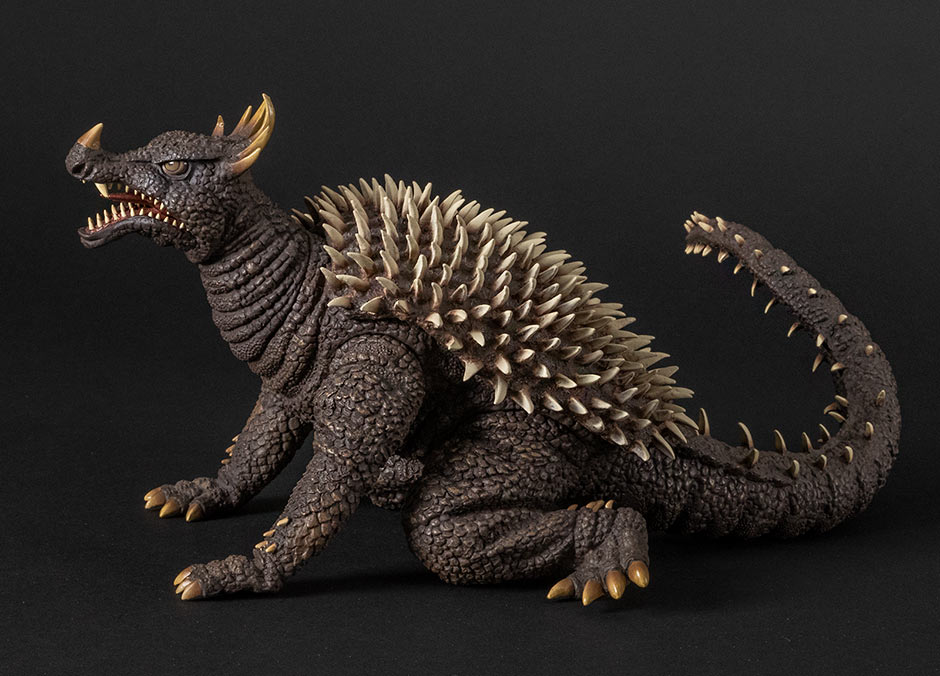 Focus on the left side of the X-Plus Daikaiju Series Anguirus 1968.