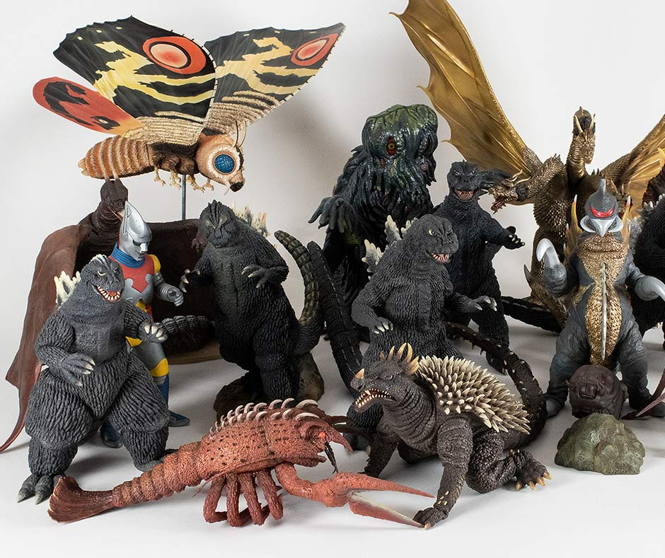 This Anguirus 1968 among a large group of other X-Plus Large Monster Series vinyls.