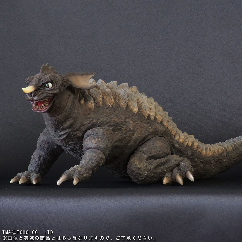 X-Plus Large Monster Series Baragon (1965 Crawling Version) vinyl figure.