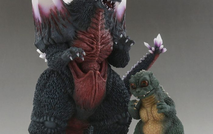 X-Plus Large Monster Series Space Godzilla and RIC Exclusive Little Godzilla.