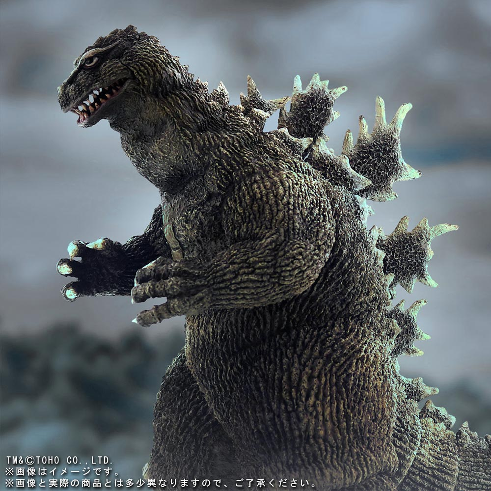 X-Plus 30cm Series Favorite Sculptors Line Godzilla 1962 - dramatic composite view.