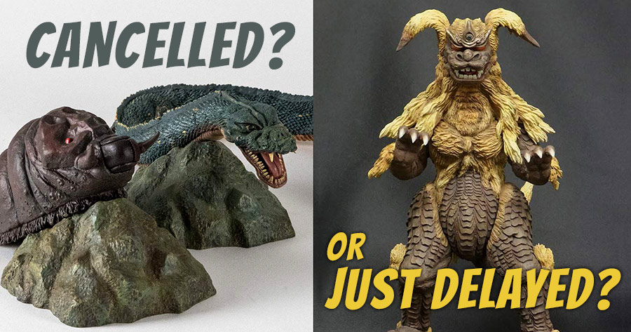 Diamond has temporarily cancelled the Mothra/Manda and King Caesar Releases.