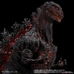 Front / Right close-up of 30cm Series Yuji Sakai Modeling Collection Godzilla 2016 vinyl figure by X-Plus.