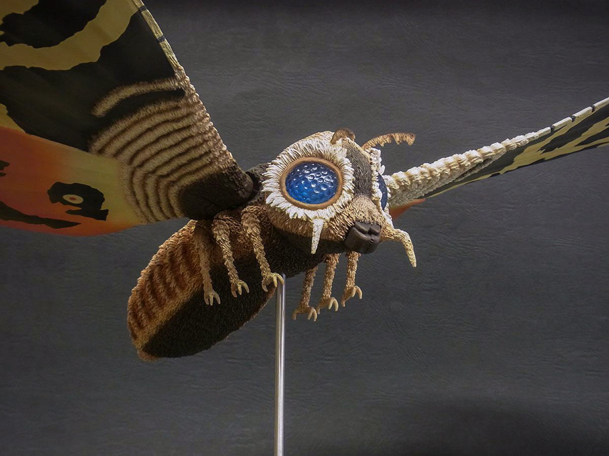 Low angle of the Mothra 1964 by X-Plus.