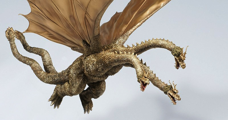X-Plus Large Monster Series King Ghidorah 1968 Flying Version vinyl figure.