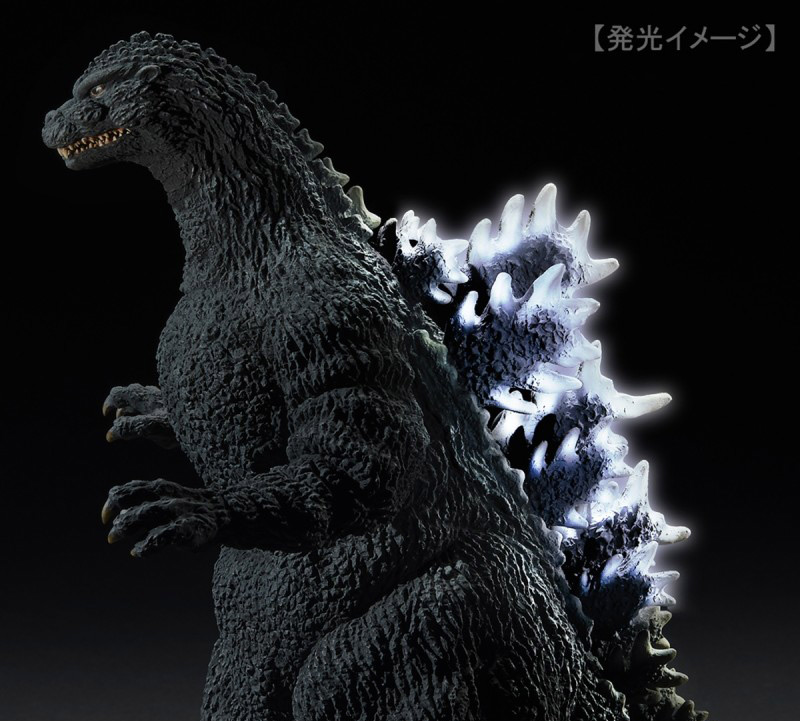 Light-up fins on the X-Plus Yuji Sakai Godzilla 1989 Osaka Closed Mouth Version vinyl figure.